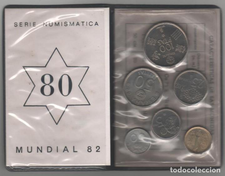 Monedas Juan Carlos I: Cartera Numismatica monedas -+Mundial 82 estrella 80 - Foto 2 - 143401242