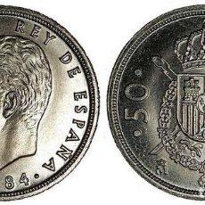 Monedas Juan Carlos I: ESPAÑA 50 PESETAS 1984 JUAN CARLOS I CALIDAD S/C MUY RARA. Lote 143808450