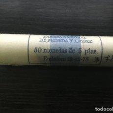 Monedas Juan Carlos I: CARTUCHO MONEDAS JUAN CARLOS I - 50 MONEDAS 5 PESETAS 1975 *78. Lote 144484074