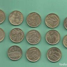 Monedas Juan Carlos I: ESPAÑA: 13X5 PESETAS 1989 A 2001. JUAN CARLOS I. Lote 145507902