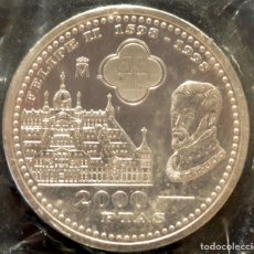 Monedas Juan Carlos I: 2000 PESETAS 1998 IV CENTENARIO DE FELIPE II PLATA ESPAÑA EN BOLSA ORIGINAL. Lote 117944207