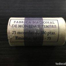 Monedas Juan Carlos I: CARTUCHO MONEDAS JUAN CARLOS I - 25 MONEDAS 100 PESETAS 1980 *80. Lote 171185822