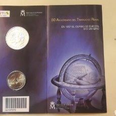 Monedas Juan Carlos I: TRATADO DE ROMA 2007 12 EUROS Y 2 EUROS. Lote 146856510