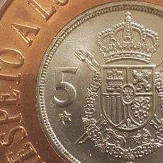 Monedas Juan Carlos I: REINCORPORACION INTERNACIONAL DE ESPAÑA-RESPETO A LOS DERECHOS HUMANOS-1975, *77.. Lote 146862402