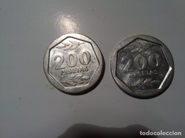 Monedas Juan Carlos I: 200 PESETAS DE1986 Y 1987 - Foto 2 - 147376210