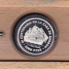 Monedas Juan Carlos I: MONEDA DE PLATA DE 2000 PTAS CASA BORBON 1997 DE FERNANDO VI - ESTUCHE CON CERTIFICADO AUTENTICIDAD. Lote 147456566