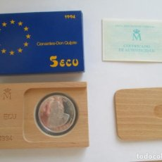 Monedas Juan Carlos I: FNMT * 5 ECU 1994 * CERVANTES-DON QUIJOTE * PLATA. Lote 147594778