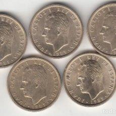Monedas Juan Carlos I: JUAN CARLOS I: 100 PESETAS 1989 - ( 5 MONEDAS ) . Lote 148636530