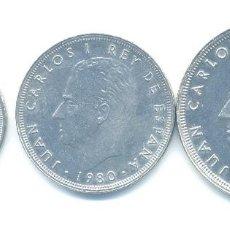 Münzen unter Juan Carlos I - LOTE A-2: -3 MONEDAS (5 PTS +25 PTS +50 PTS) 1980*81 -SIN CIRCULAR- - 148659090
