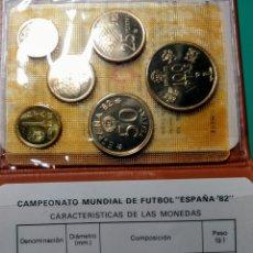 Monedas Juan Carlos I: CARTERA OFICIAL FNMT 1980 *80. FÚTBOL MUNDIAL 1982.. Lote 149237026