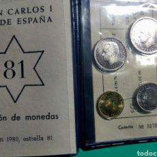 Monedas Juan Carlos I: CARTERA ANE. 1980 *81 JUAN CARLOS I.. Lote 149380393