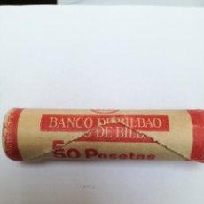 Monedas Juan Carlos I: CARTUCHO DEL BANCO BILBAO CON 50 MONEDAS DE UNA PESETA DE 1982*1980. Lote 149583922