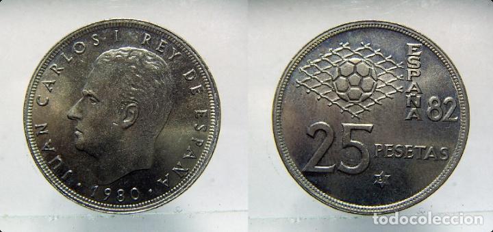 MONEDA DE JUAN CARLOS I 25 PESETAS 1980*81 SC (Numismática - España Modernas y Contemporáneas - Juan Carlos I)