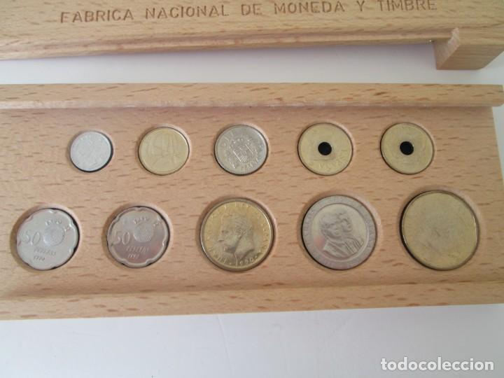 Monedas Juan Carlos I: NUEVO SISTEMA MONETARIO FNMT * ESTUCHE DE MADERA * SERIE COMPLETA 1990 ** TIN - Foto 2 - 149706070