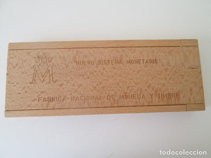 Monedas Juan Carlos I: NUEVO SISTEMA MONETARIO FNMT * ESTUCHE DE MADERA * SERIE COMPLETA 1990 ** TIN - Foto 3 - 149706070