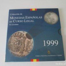 Monedas Juan Carlos I: ESPAÑA * COLECCION DE MONEDAS ESPAÑOLAS DE CURSO LEGAL * 1999 S/C * TIN. Lote 165241820