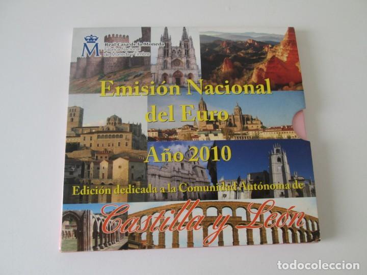 ESPAÑA * EMISION NACIONAL DEL EURO * 2010 * CASTILLA Y LEON ** TIN (Numismática - España Modernas y Contemporáneas - Juan Carlos I)