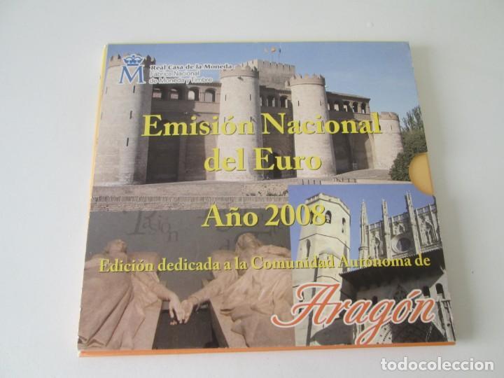 ESPAÑA * EMISION NACIONAL DEL EURO * 2008 * ARAGON ** TIN (Numismática - España Modernas y Contemporáneas - Juan Carlos I)
