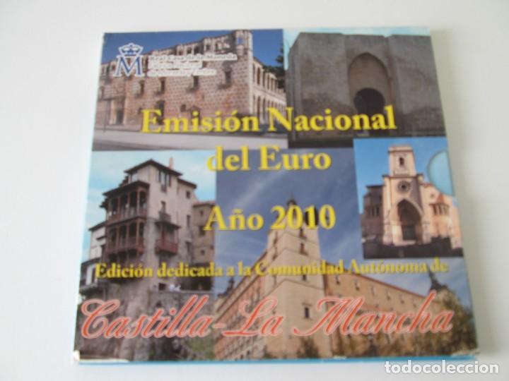 ESPAÑA * EMISION NACIONAL DEL EURO * 2010 * CASTILLA LA MANCHA ** TIN (Numismática - España Modernas y Contemporáneas - Juan Carlos I)