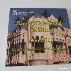 Monedas Juan Carlos I: ESPAÑA * EMISION NACIONAL DEL EURO * 2011 * CEUTA ** TIN. Lote 165722556