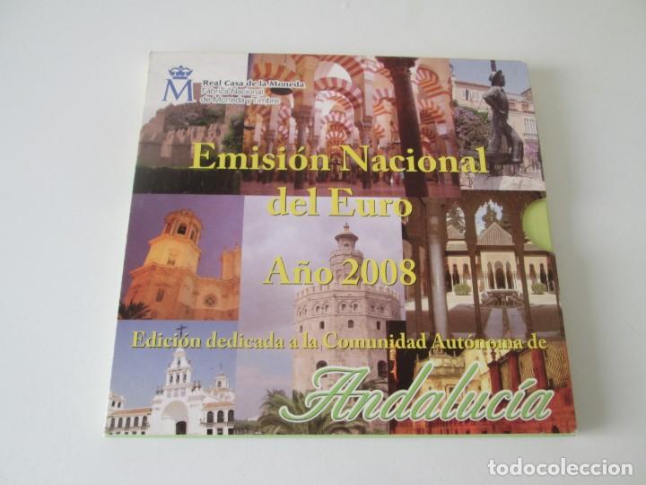 ESPAÑA * EMISION NACIONAL DEL EURO * 2008 * ANDALUCIA ** TI (Numismática - España Modernas y Contemporáneas - Juan Carlos I)