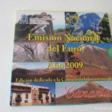 Monedas Juan Carlos I: ESPAÑA * EMISION NACIONAL DEL EURO * 2009 * CANARIAS ** TI. Lote 149711418
