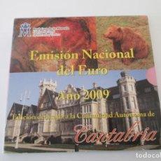 Monedas Juan Carlos I: ESPAÑA * EMISION NACIONAL DEL EURO * 2009 * CANTABRIA ** TI. Lote 149712670