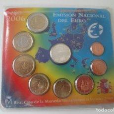 Monedas Juan Carlos I: ESPAÑA * CARTERA EMISION NACIONAL DEL EURO * 2006 ** TIN. Lote 149715386