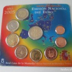 Monedas Juan Carlos I: ESPAÑA * CARTERA EMISION NACIONAL DEL EURO * 2005 ** TIN. Lote 152648905