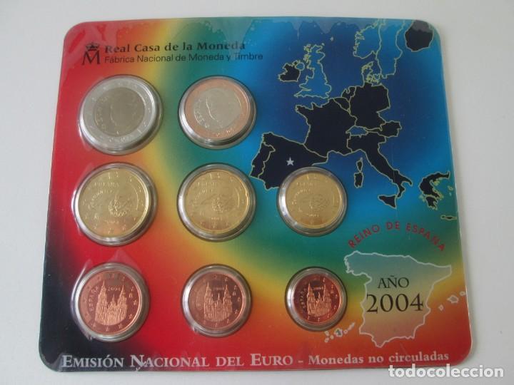 ESPAÑA * CARTERA EMISION NACIONAL DEL EURO * 2004 ** TIN (Numismática - España Modernas y Contemporáneas - Juan Carlos I)