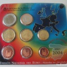 Monedas Juan Carlos I: ESPAÑA * CARTERA EMISION NACIONAL DEL EURO * 2004 ** TIN. Lote 149715786