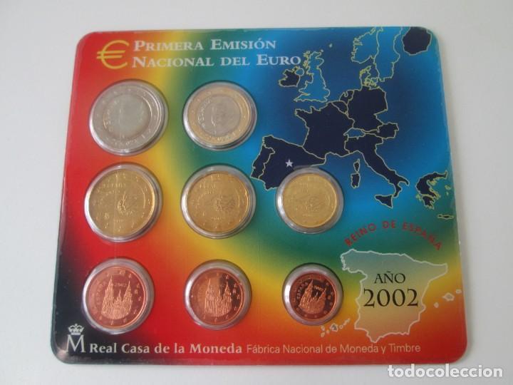 ESPAÑA * CARTERA EMISION NACIONAL DEL EURO * 2002 ** TIN (Numismática - España Modernas y Contemporáneas - Juan Carlos I)