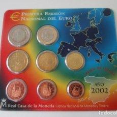 Monedas Juan Carlos I: ESPAÑA * CARTERA EMISION NACIONAL DEL EURO * 2002 ** TIN. Lote 149716422