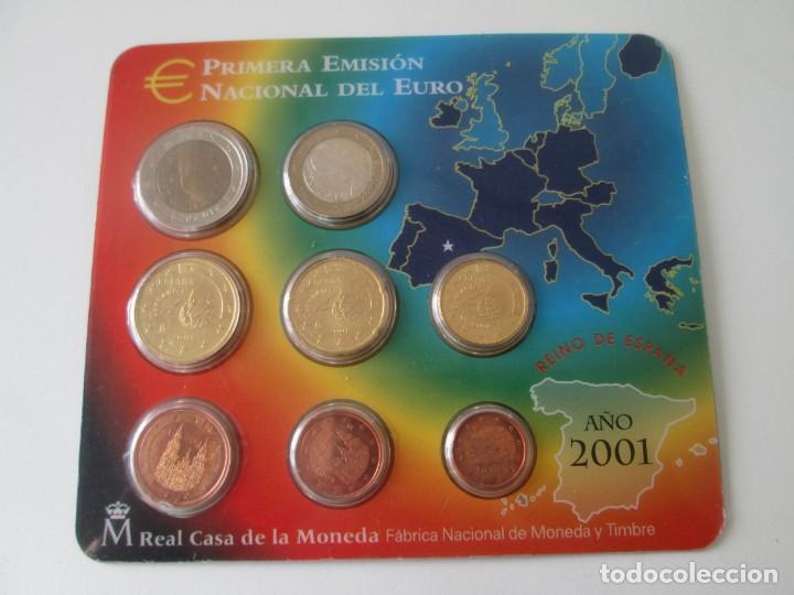 ESPAÑA * CARTERA EMISION NACIONAL DEL EURO * 2001 ** TIN (Numismática - España Modernas y Contemporáneas - Juan Carlos I)