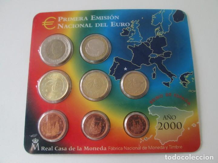 ESPAÑA * CARTERA PRIMERA EMISION NACIONAL DEL EURO * 2000 ** TIN (Numismática - España Modernas y Contemporáneas - Juan Carlos I)