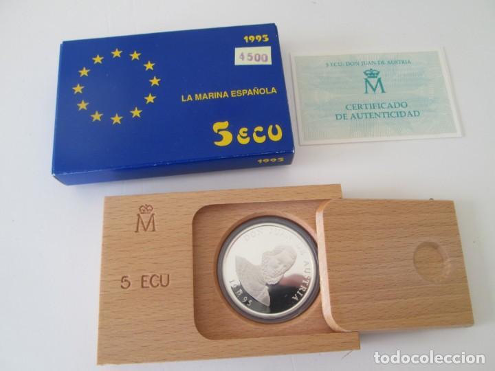 JUAN CARLOS I * 5 ECU 1995 - LA MARINA ESPAÑOLA - DON QUIJOTE * PLATA** TIN (Numismática - España Modernas y Contemporáneas - Juan Carlos I)
