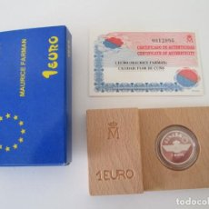 Monedas Juan Carlos I: JUAN CARLOS I * 1 EURO 1997 - MAURICE FARMAN * PLATA **TIN. Lote 149735186