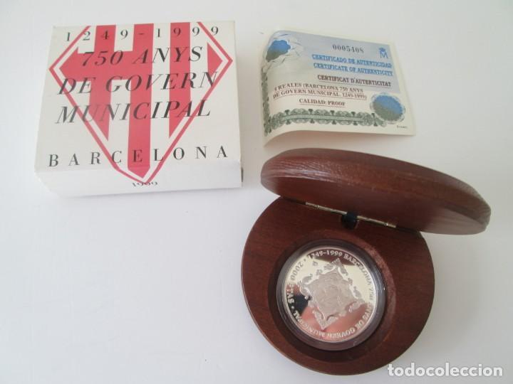FNMT * 2000 PESETAS 1999 * 750 AÑOS DEL GOBIERNO MUNICIPAL DE BARCELONA * PLATA TIN (Numismática - España Modernas y Contemporáneas - Juan Carlos I)