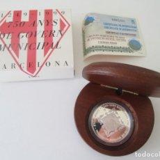 Monedas Juan Carlos I: FNMT * 2000 PESETAS 1999 * 750 AÑOS DEL GOBIERNO MUNICIPAL DE BARCELONA * PLATA TIN. Lote 149739890
