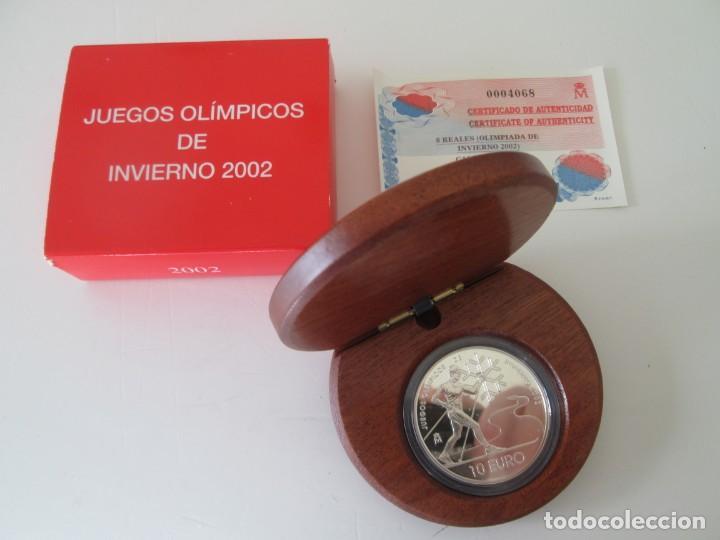 FNMT * 10 EUROS 2002 * JUEGOS OLIMPICOS DE INVIERNO * PLATA TIN (Numismática - España Modernas y Contemporáneas - Juan Carlos I)