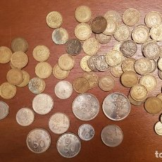 Monedas Juan Carlos I: LOTE MONEDAS MUNDIAL DE FUTBOL 1982 100,50,25,5,1,50 CENTIMOS PESETAS FRANCO JUAN CARLOS I. Lote 150562770