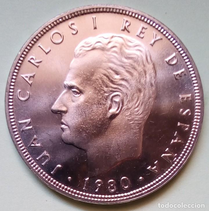 Monedas Juan Carlos I: ESPAÑA - 100 PESETAS 1980 * 80 - S / C - SACADA DE CARTUCHO - CAMPEONATO DE FÚTBOL 1982 DE BARCELONA - Foto 2 - 150582638