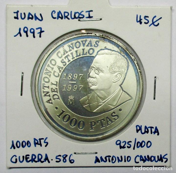 1000 PESETAS EN PLATA, 1997. ANTONIO CANOVAS DEL CASTILLO. PLATA 925/000. PROOF. LOTE 1505 (Numismática - España Modernas y Contemporáneas - Juan Carlos I)