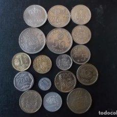 Monedas Juan Carlos I: COLECCION DE MONEDAS DIVERSOS VALORES Y AÑOS REY JUAN CARLOS I. Lote 151201006