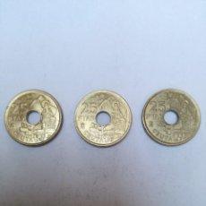 Monedas Juan Carlos I: TRES MONEDAS DE 25 PESETAS DE JUAN CARLOS I, AÑO 1998. CEUTA.. Lote 152154950