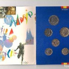 Monedas Juan Carlos I: CARTERA OFICIAL NUMERADA DE LA FNMT MONEDAS DE CURSO LEGAL DE JUAN CARLOS I DE 1992. SIN CIRCULAR. Lote 222425646