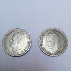 Monedas Juan Carlos I: DOS MONEDAS DE 5 PESETAS JUAN CARLOS I, 1975*1978. Lote 153447622