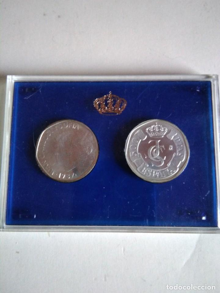 Monedas Juan Carlos I: Prueba en plata,moneda 500 pesetas, Juan Carlos i,1987 - Foto 2 - 154474658