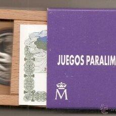 Monedas Juan Carlos I: 1000 PESETAS DE PLATA DE 1996. JUEGOS PARALÍMPICOS. ESTUCHE + CERTIFICADO. Lote 154794642