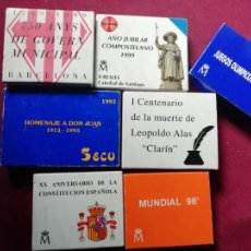 Monedas Juan Carlos I: LOTE DE 7 ESTUCHES DE MONEDAS DE 1000, 2000 Y 5 ECU. PLATA. Lote 154799174